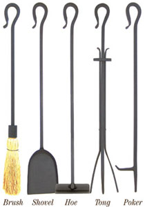 Minuteman 28 Inch Shepherds Hook Individual Fireplace Tools