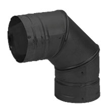 3 Inch Pellet 90 Degree Elbow Black Pvp
